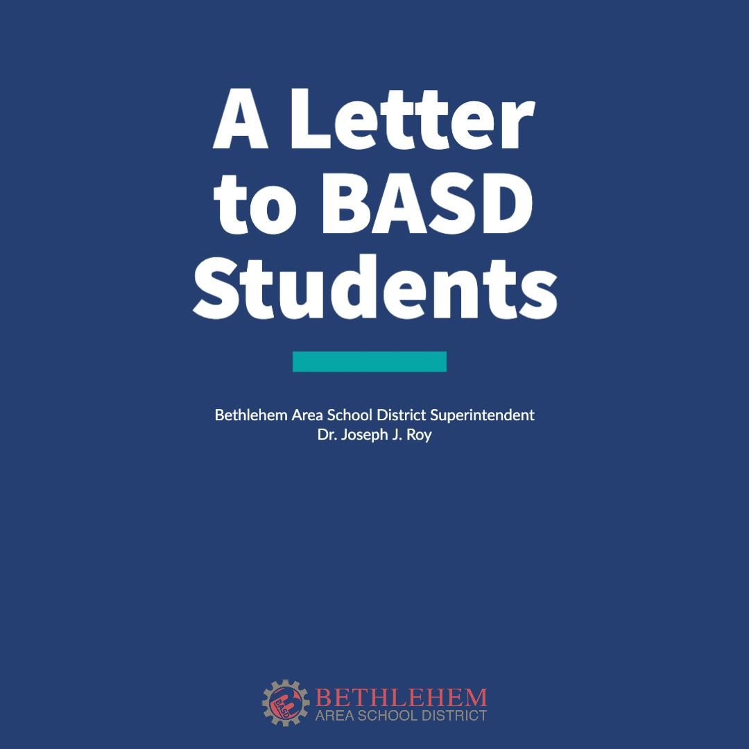 A Letter to BASD Students from Dr. Roy