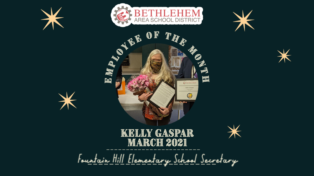 Kelly Gaspar, BASD Employee of the Month, March 2021